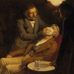 V0018140 The first use of ether in dental surgery, 1846. Oil painting